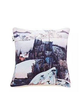 Beautiful Nature Scenery Paint Throw Pillow