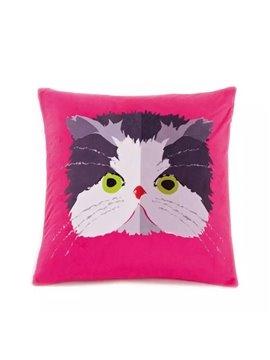 Cartoon Big Face Cat Paint Throw Pillow Case