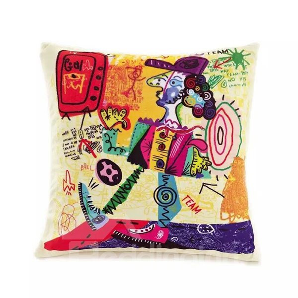 Cartoon Hip Hop boy Paint Throw Pillow Case
