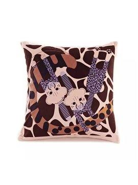 Cartoon Leopards Paint Throw Pillow Case