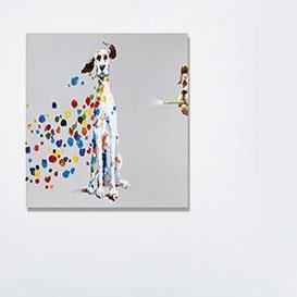 Creative Cute Dalmatians in Field 1-Panel Wall Art Print