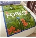 Beautiful Flowers and Grasses Cotton 4 Pieces Bedding Sets