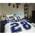 Modern Twenty-Eight Letter 4-Piece Duvet Cover Sets