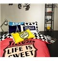 Cute Cartoon Mustache 4-Piece Duvet Cover Sets