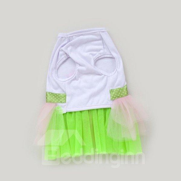 New Arrival Amazing Beautiful Pet Green Princess Dress