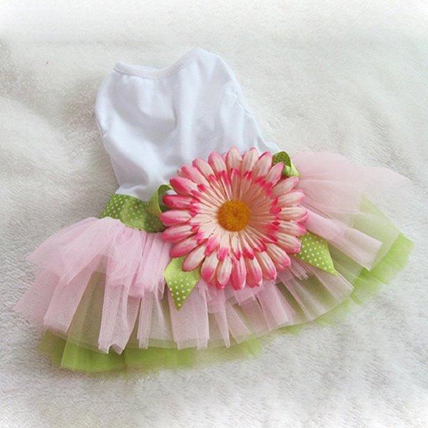 High Quality Beautiful Pet Pink Princess Dress