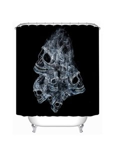 Unique Design Fumy Skull Print 3D Shower Curtain