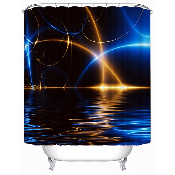 Colorful Light over the Water Print 3D Shower Curtain