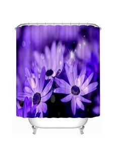 Newly Arrived Purple Daisy Print 3D Shower Curtain