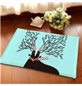 Creative Rectangle Person and Letter Pattern Decorative Doormat