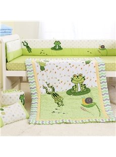 Little Frog in The Pond 6-Piece Cotton Baby Crib Bedding Set