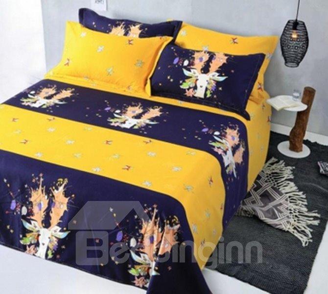 Fancy Colourful Deer 4-Piece Duvet Cover Sets