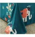 Lovely Cartoon Elephant 4-Piece Duvet Cover Sets