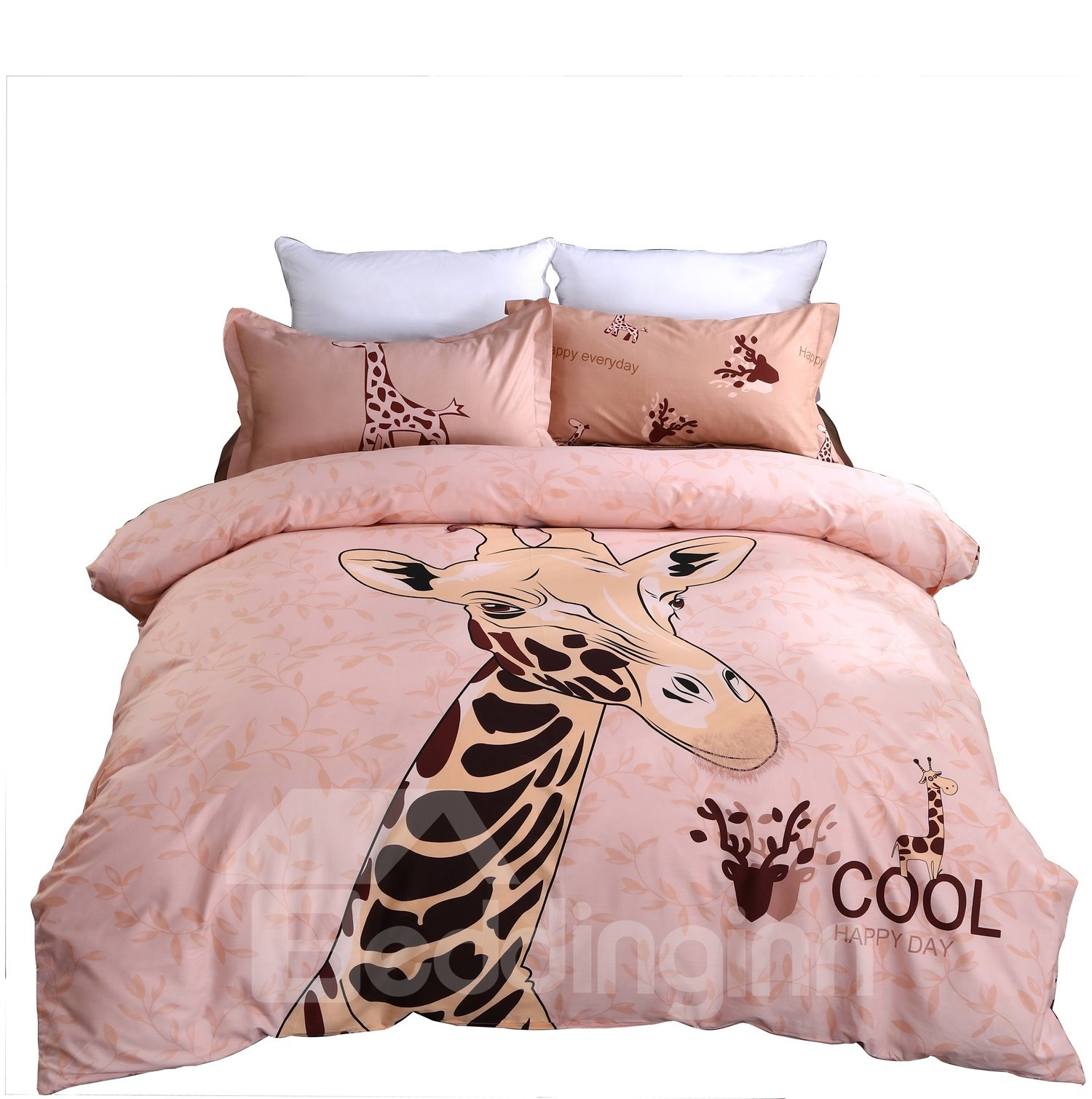 Lovely Giraffe Printing 4-Piece Duvet Cover Sets