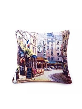 Beautiful Street of Italy Paint Throw Pillow Case
