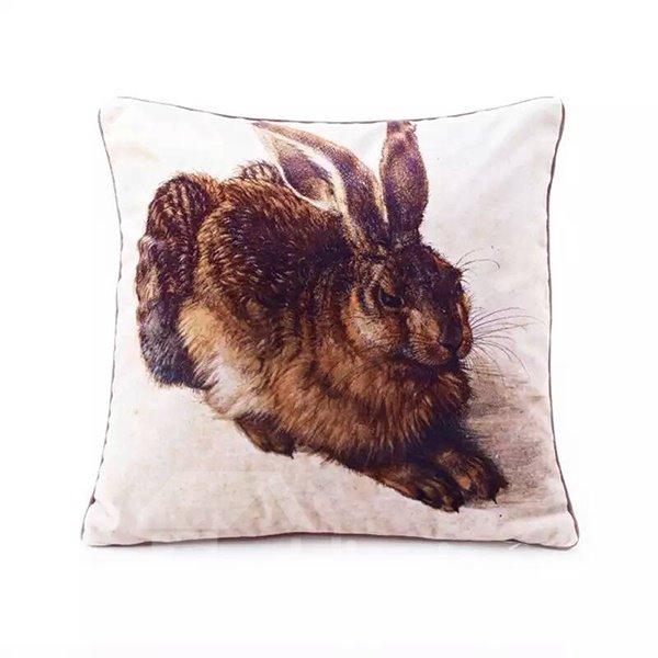 Concise Fat Rabbit Paint Throw Pillow Case