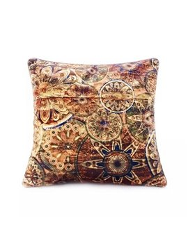 Eurpean Style Golden Circle Paint Throw Pillow Case