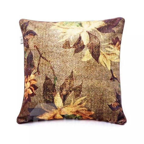 Classy Golden Lilies Paint Throw Pillow Case