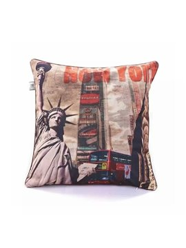 USA Statue of Liberty Paint Throw Pillow Case