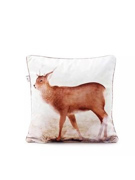 Concise Lovely Deer Paint Throw Pillow Case