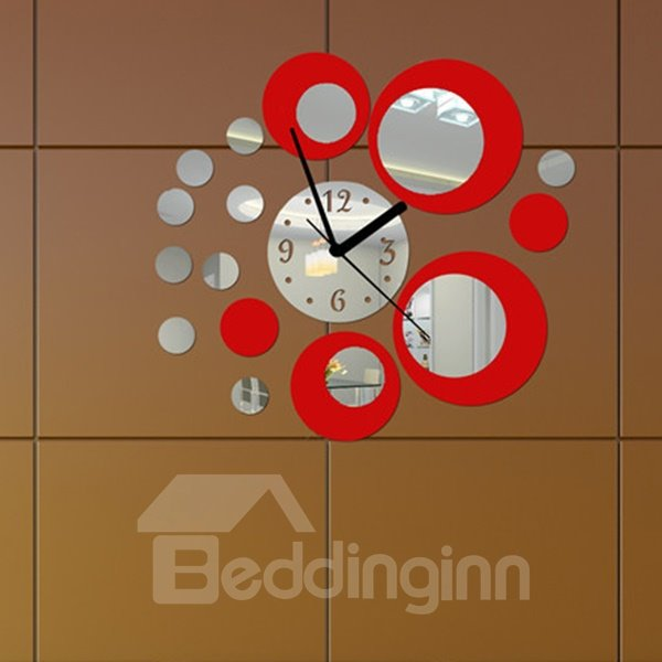 Creative Acrylic Mirror Surface Three-dimensional Wall Clock