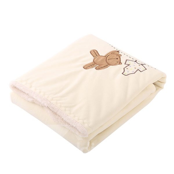 Soft and Comfy Cute Bear Pattern Baby Blanket