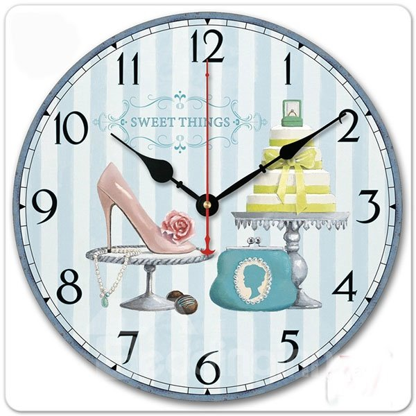 Beautiful Modern Creative European Style Wall Clock with Sun Movement