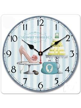 Beautiful Modern Creative European Style Wall Clock with Sun Movement