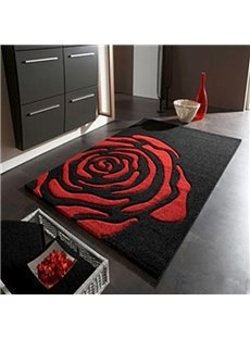 Simple Individuality Rose Area Rugs for Living Room