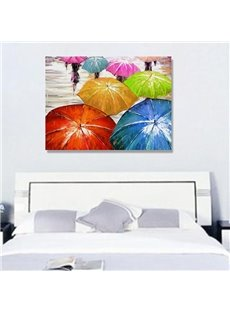 Home Art-Hand-painted Umbrella and Rain Wall Prints