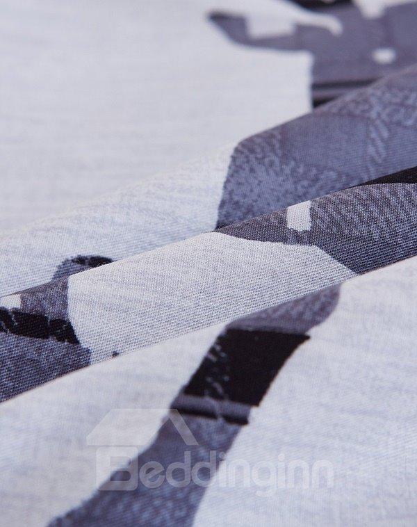 New Arrival Concise Reindeer Design Cotton 4-Piece Duvet Cover Sets