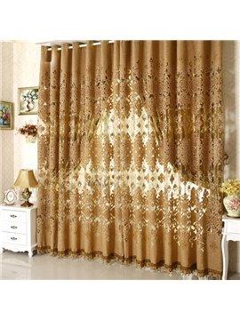 Luxury European Style Pierced Custom Sheer Curtain