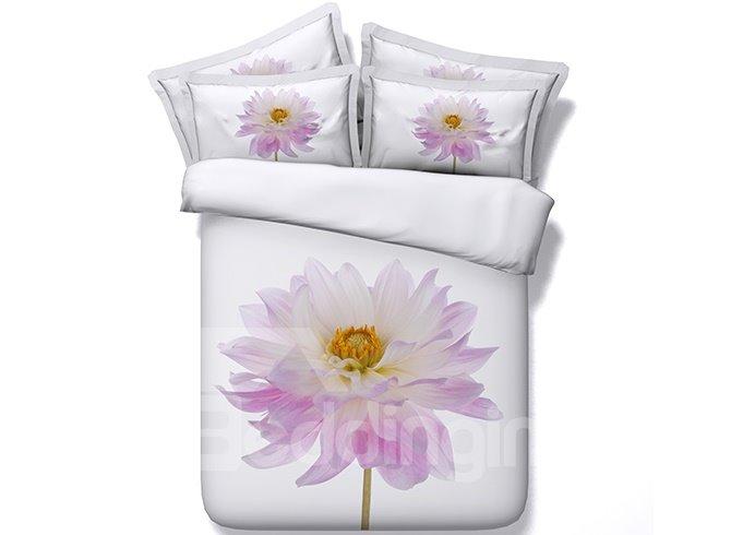 Chic Big Flower Pattern 4 Pieces Bedding Sets
