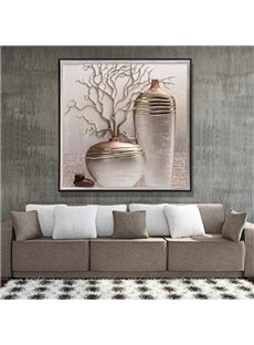 Beautiful Three-dimensional Flower Vase Sculpture Framed Wall Art Prints