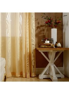Modern Style Golden Custom Sheer Curtain