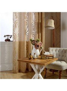 Modern Home Decor Solid Champagne Custom Sheer Curtain