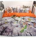 Silvan Birds and Trees 4-Piece Print Cotton Bedding Set