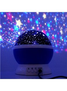 Creative Romantic Stars Projector USB LED Night Light