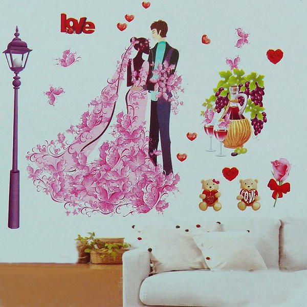 Romantic Lover Wall Stickers for Room Decoration