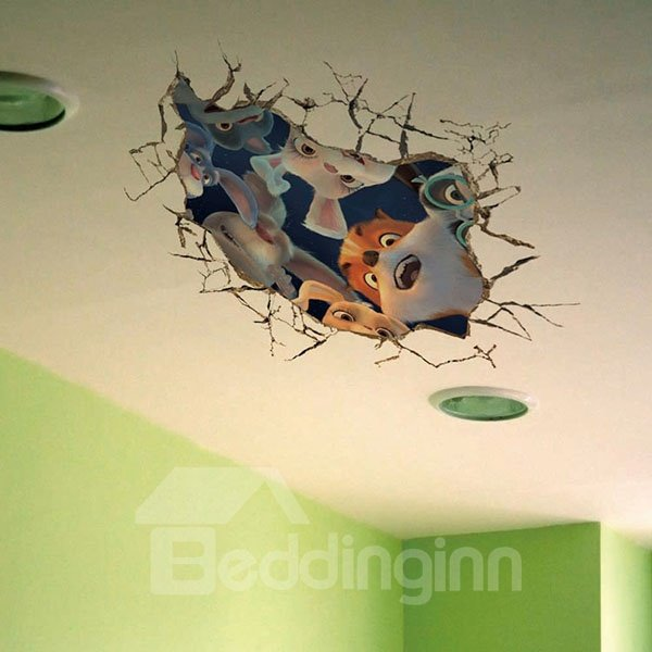 Creative Animal 3D Wall Stickers for Children
