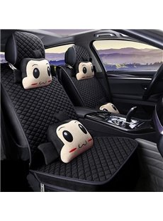 Fabulous Cartoon Figure Plain Grided Universal Car Set Covers