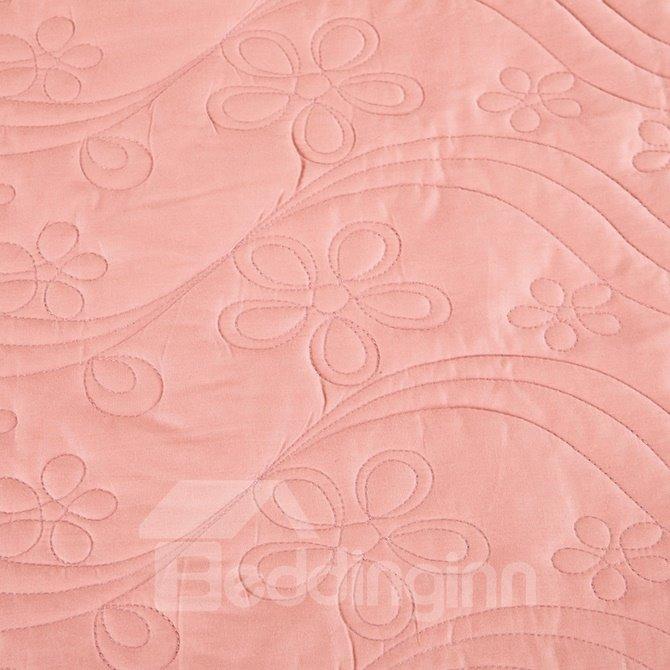 Graceful Cameo Brown Retro Big Flowers Jacquard 4-piece Bamboo Fabric Bedding Set