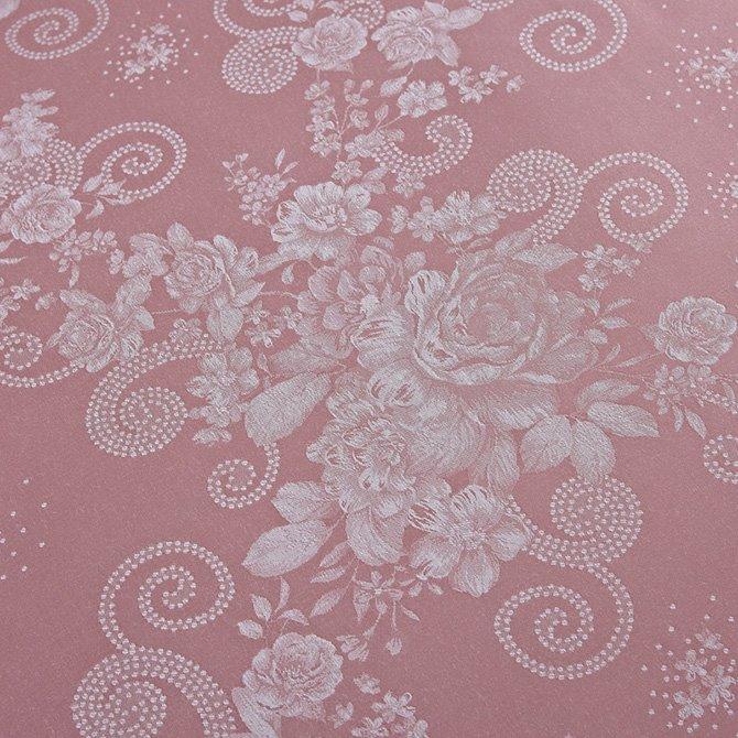 Graceful Pale Mauve Little Flowers Jacquard 4-Piece Bamboo Fabric Bedding Set