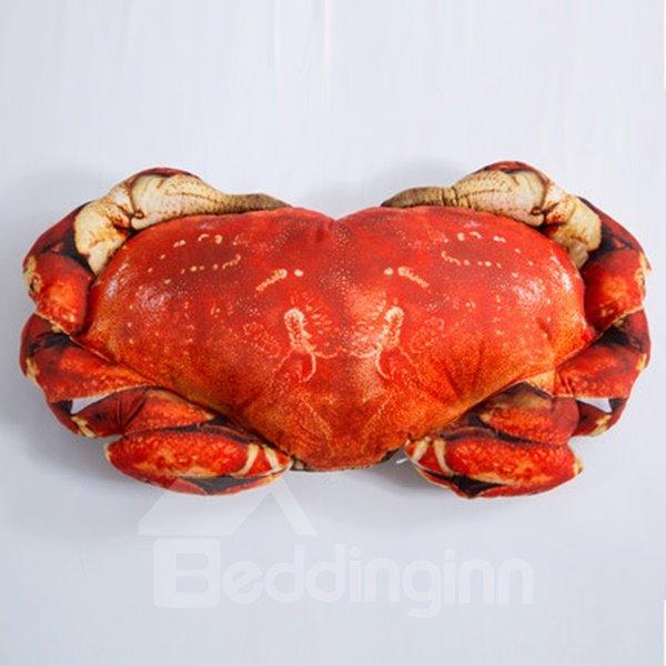 Creative Design Crab Shape Design Throw Pillow