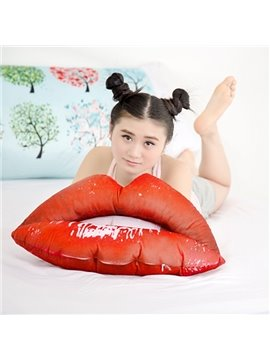 Popular Vivid Lips Shape Plush Throw Pillows