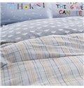 Cozy Concise Style Gray Cotton 4-Piece Duvet Cover Sets