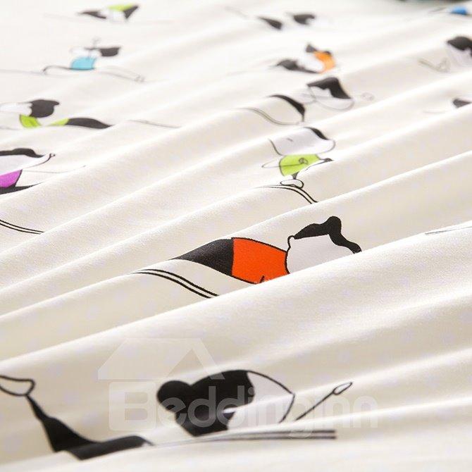 Chic Yoga Coach Design 100% Cotton 4-Piece Duvet Cover