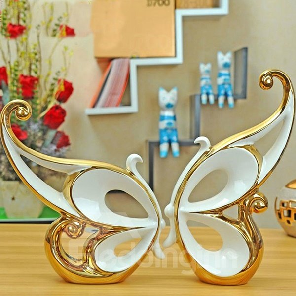Simple Beautiful Couple Butterfly Desktop Decorations