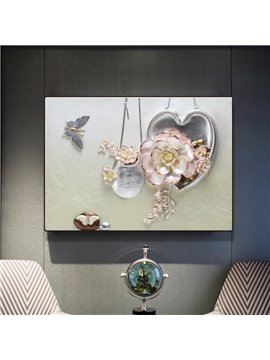 Modern Simple Three-dimensional Flower Framed Wall Print