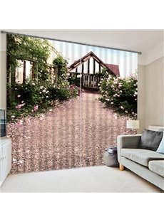 Farm Spring Scenery Print 3D Blackout Curtain